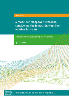 A model for manpower relocation considering the impact derived from weather forecasts